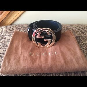 Patent Leather Gucci belt